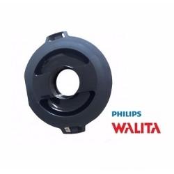 Tampa Preta do Copo de Vidro para Liquidificador Philips Walita RI2083