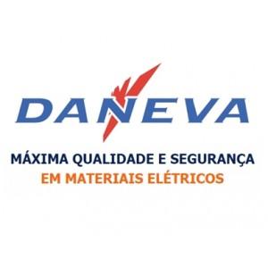 Tomada Em Barra 4 Saídas 20a 2p+t Daneva Cinza Com Suporte