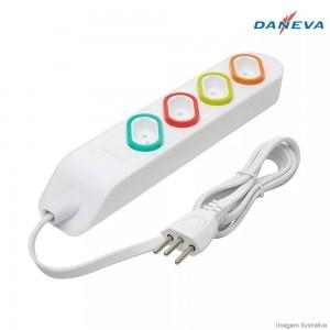 Extensão Elétrica 1,3m 4 Tomadas 2p+t 10a Daneva Dn1840