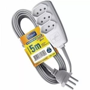 Extensão Elétrica Daneva 3 Tomadas 5m 10a 2p+t Cinza