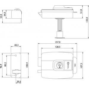 Fechadura C90 Hdl Dupla Inox Ajuste Universal 90.01.03.071