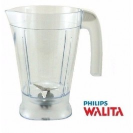 Copo Liquidificador Philips Walita RI2160, RI2162 c/ Alça Branca