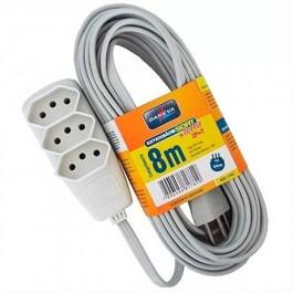 Extensão Elétrica Daneva 3 Tomadas 8m 10a 2p+t Cinza