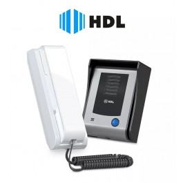 Interfone Porteiro Eletrônico HDL F9-S com Função Siga-me - Unidade Externa + Interna