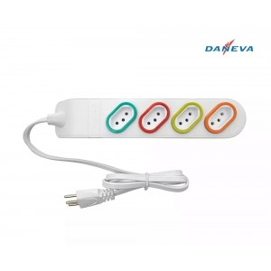 Extensão Elétrica 3m 4 Tomadas 2p+t 10a Daneva Dn1844