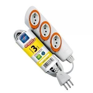 Extensão Elétrica Daneva 3 Tomadas 3m 2p+t No Shock